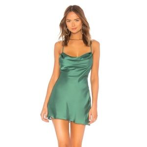 Lovers + Friends Dresses - NWT Lovers and Friends green slip dress Sz Med